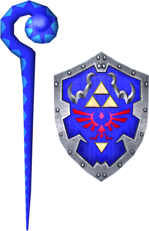 File:Cane of Byrna and Hylian Shield (Soul Calibur II).png