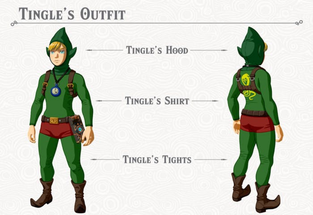 File:Breath of the Wild DLC Armor Tingle Armor Set (Tingle's Hood, Tingle's Shirt, & Tingle's Tights).png