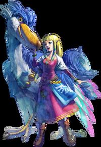 Arte de Zelda e seu Loftwing