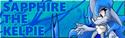 Sapphire the kelpie signature by zacnichols123-d4swds5