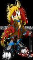 Sonic oc azreal the dragon by zephyros phoenix-d4lw7xy