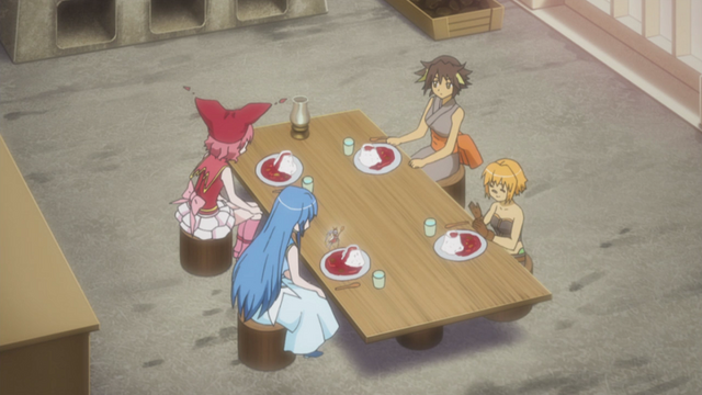 File:The girls sit down to eat.png