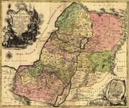 1759 map Holy Land and 12 Tribes