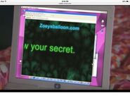 Zoey search up a website