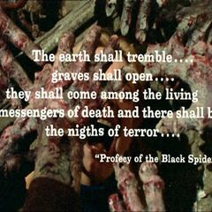 Film Ending Quote From The Prophecy Of The Black Spider
