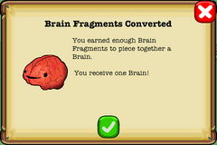 Brain collected