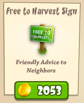 Free to Harvest Sign