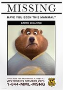 Barry DiCaprio missing poster