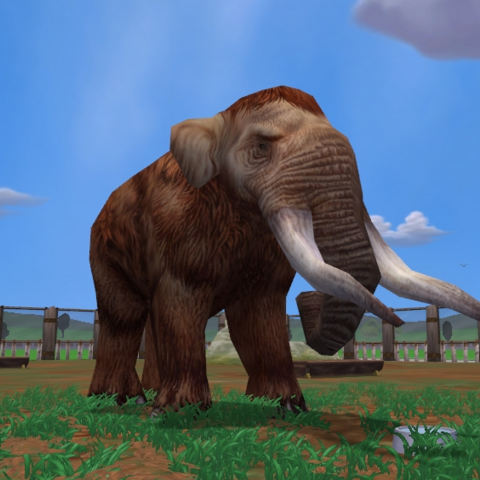 Male American Mastodon drinking from a dish at maxed graphical settings.