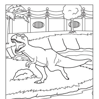 <i>Dino Danger</i> coloring page.